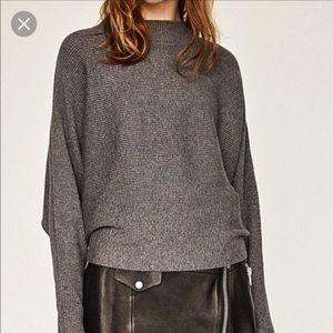 NWOT Black Zara Batwing Knit